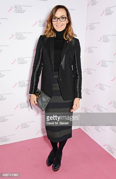 Victoria Pendleton attends the launch of The Estee Lauder Companies' UK Breast Cancer Awareness Campaign 2014 'Hear Our Stories Share Yours' at...