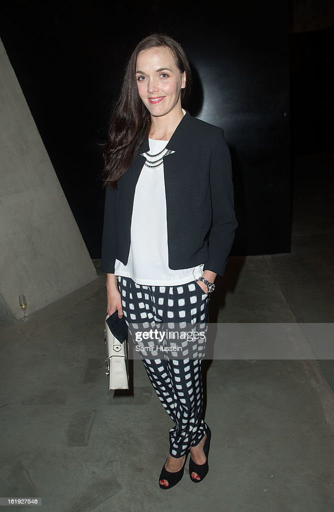Victoria Pendleton attends the Topshop Unique show at the Tate Modern during London Fashion Week Fall/Winter 2013/14 on February 17, 2013 in London, England.