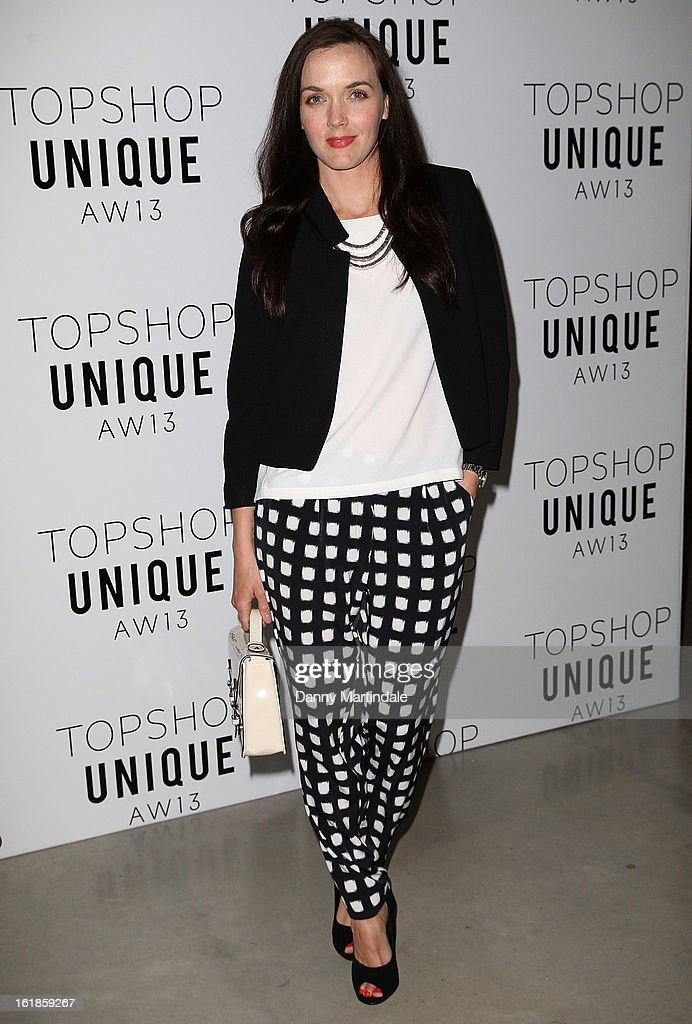 Victoria Pendleton attends the Unique show during London Fashion Week Fall/Winter 2013/14 at TopShop Show Space on February 17, 2013 in London, England.