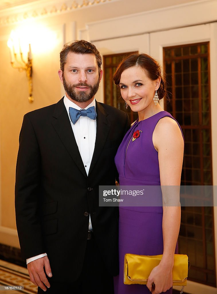 <a gi-track='captionPersonalityLinkClicked' href=/galleries/search?phrase=Victoria+Pendleton&family=editorial&specificpeople=228525 ng-click='$event.stopPropagation()'>Victoria Pendleton</a> of Great Britain poses for a picture with her husband Scott Gardner during the British Olympic Ball at The Dorchester on October 30, 2013 in London, England.
