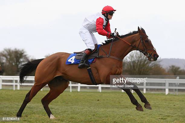 Victoria Pendleton riding Pacha Du Polder on her way to victory in the Betfair Switching Saddles Hunters' Steeplechase at Wincanton Racecourse on...