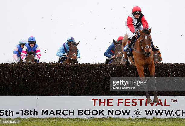 Victoria Pendleton riding Pacha Du Polder on their way to winning The Betfair Swithching Saddles Hunters' Steeple Chase at Wincanton racecourse on...