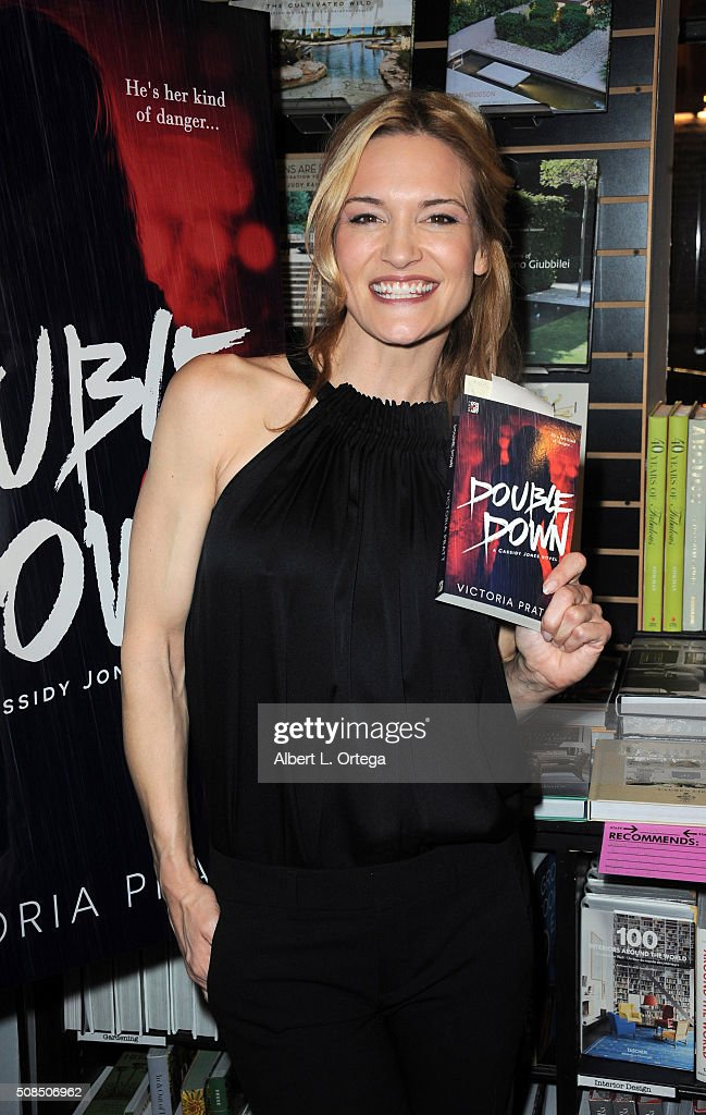 Victoria Pratt book signing for 'Double Down' held at Book Soup on February 4 2016 in West Hollywood California