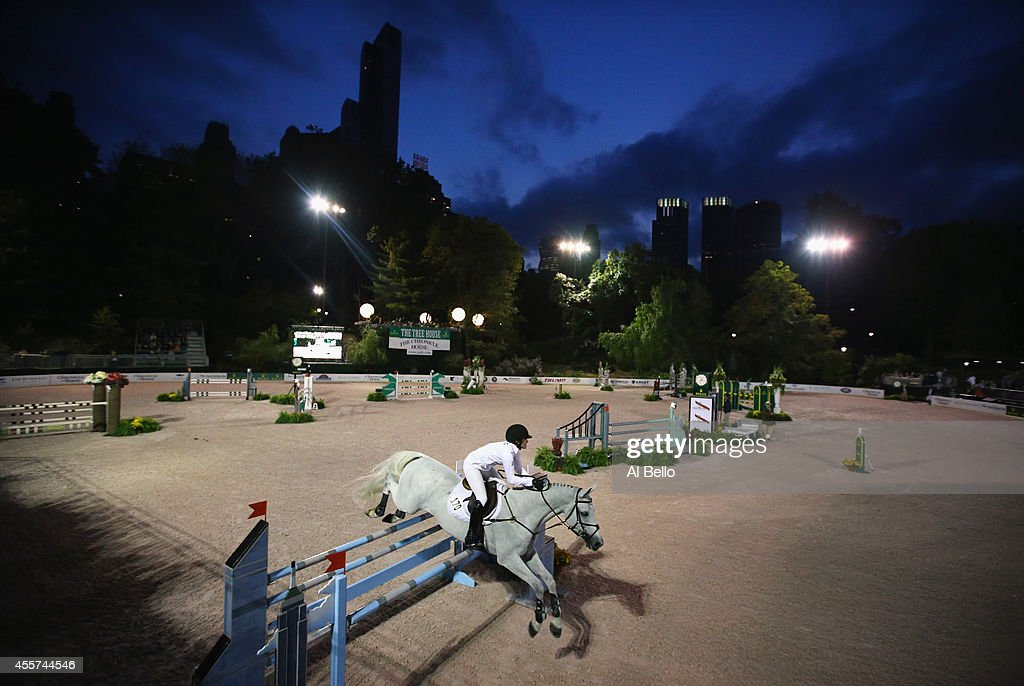 Victoria Press jumps during the Central Park Horse Show on September 19 2014 in New York City