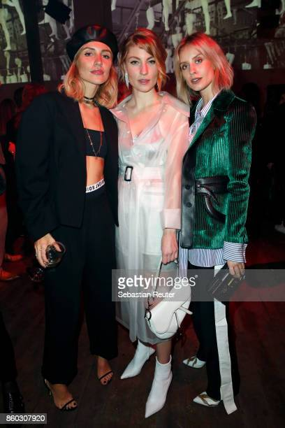 Victoria Rader Lisa Banholzer and Lisa Hahnbuck attend the Moncler X Stylebopcom launch event at the Musikbrauerei on October 11 2017 in Berlin...