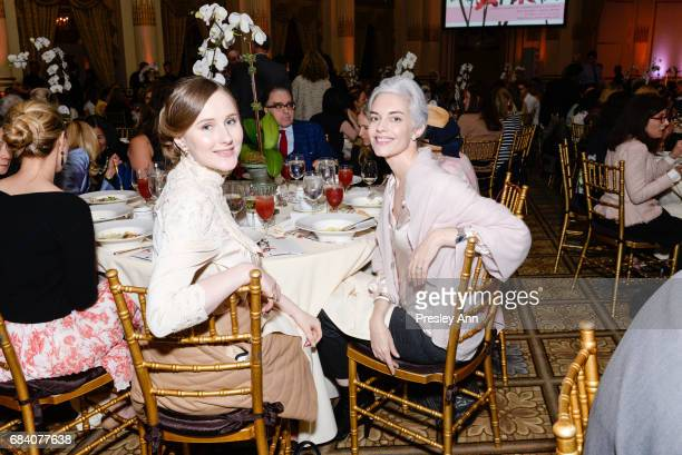 Victoria Rose Whipple and Cordelia Dietrich Zanger attend Audubon's 14th Annual Women In Conservation Luncheon at The Plaza on May 16 2017 in New...