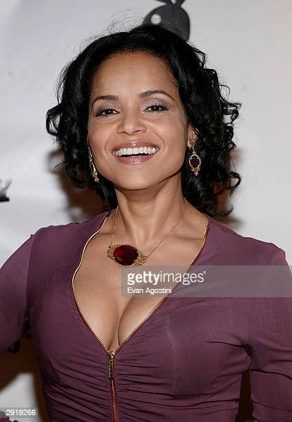 Victoria Rowell attends Playboy Magazine's Fifth Annual Super Saturday 'Heaven and Hell' party on January 31 2004 at the Corinthian in Houston Texas