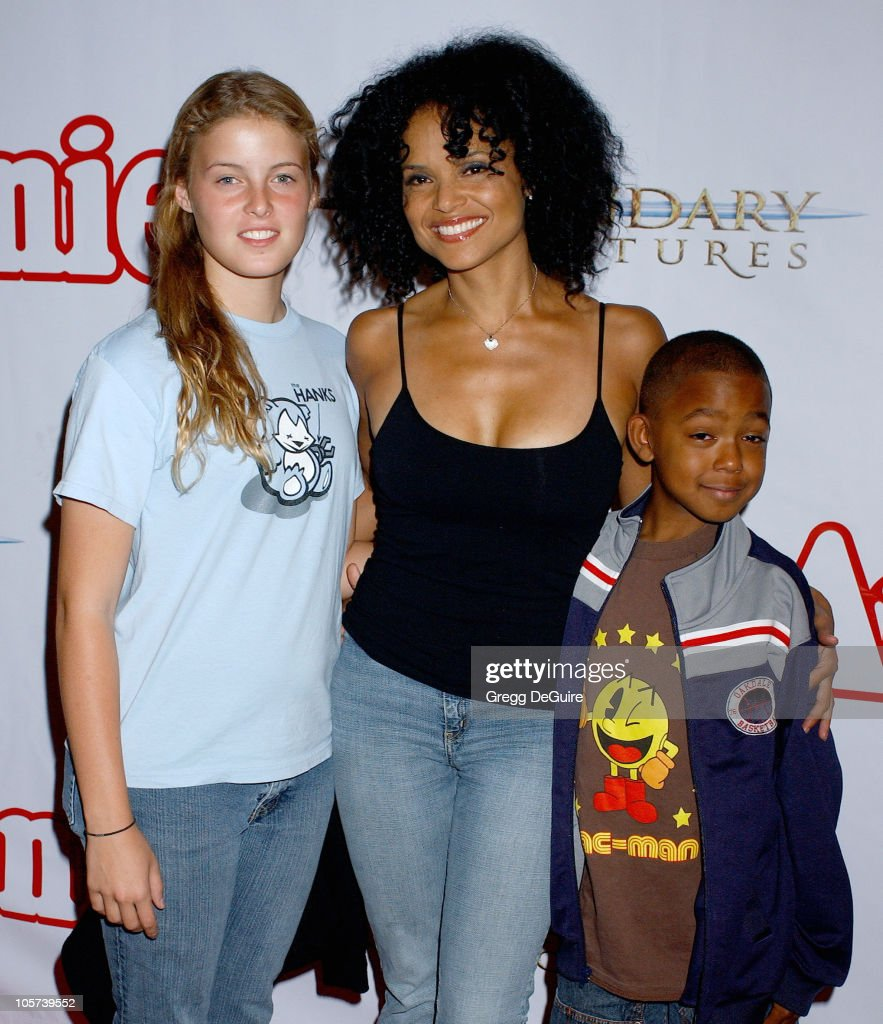 <a gi-track='captionPersonalityLinkClicked' href=/galleries/search?phrase=Victoria+Rowell&family=editorial&specificpeople=202576 ng-click='$event.stopPropagation()'>Victoria Rowell</a>, daughter Maya and son Jasper during 'Annie' Opening Night to Benefit CASA of Los Angeles - Arrivals at Pantages Theatre in Hollywood, California, United States.