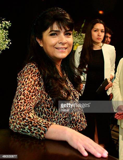 Victoria Ruffo attends to a mass before the start of Televisas'a new soap opera 'La Malquerida' at Televisa San Angel on March 24 2014 in Mexico City...