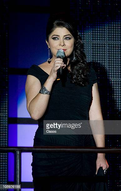 Victoria Ruffo during the presentation of the soap opera El triunfo Del Amor of Televisa on October 20 2010 in Mexico City Mexico