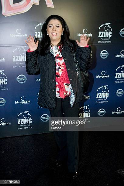 Victoria Ruffo poses for a photo at the red carpet of the last presentation of spectacle Fuerza Bruta at Carpa Santa Fe on July 8 2010 in Mexico City...