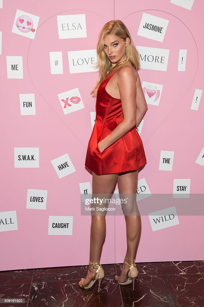 Victoria Secret Angel <a gi-track='captionPersonalityLinkClicked' href=/galleries/search?phrase=Elsa+Hosk&family=editorial&specificpeople=4436101 ng-click='$event.stopPropagation()'>Elsa Hosk</a> attends the Gift Picks and Tips For Valentine's Day Event at Victoria's Secret Herald Square on February 9, 2016 in New York City.