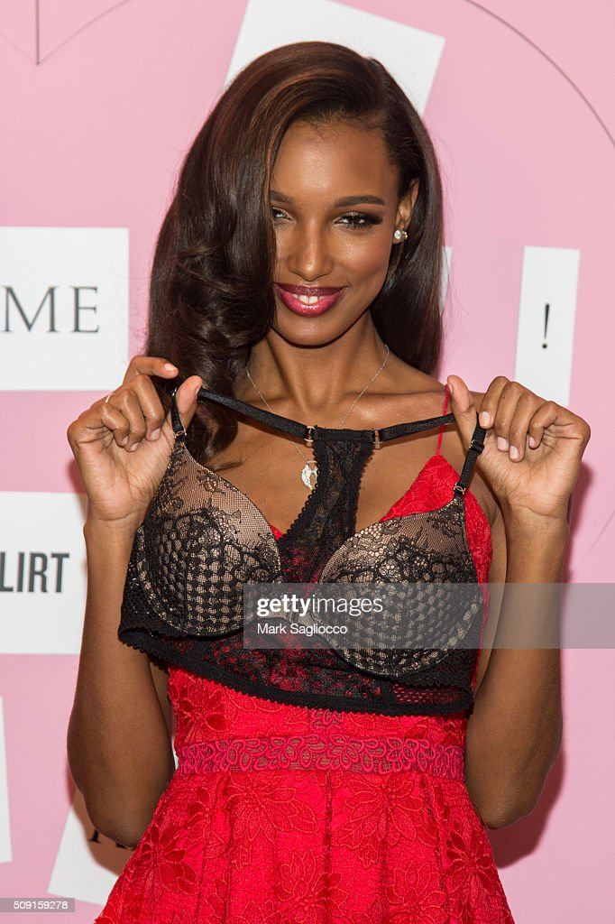 Victoria Secret Angel Jasmine Tookes attends the Gift Picks and Tips For Valentine's Day Event at Victoria's Secret Herald Square on February 9, 2016 in New York City.
