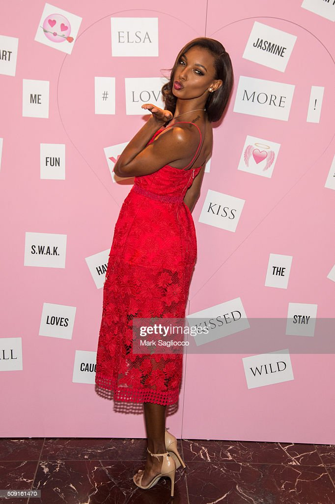 Victoria Secret Angel <a gi-track='captionPersonalityLinkClicked' href=/galleries/search?phrase=Jasmine+Tookes&family=editorial&specificpeople=6995106 ng-click='$event.stopPropagation()'>Jasmine Tookes</a> attends the Gift Picks and Tips For Valentine's Day Event at Victoria's Secret Herald Square on February 9, 2016 in New York City.