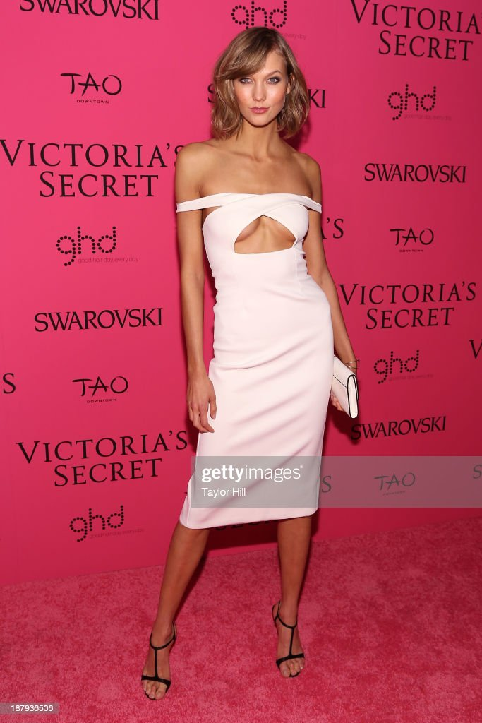 Victoria' Secret Angel <a gi-track='captionPersonalityLinkClicked' href=/galleries/search?phrase=Karlie+Kloss&family=editorial&specificpeople=5555876 ng-click='$event.stopPropagation()'>Karlie Kloss</a> attends the after party for the 2013 Victoria's Secret Fashion Show at TAO Downtown on November 13, 2013 in New York City.