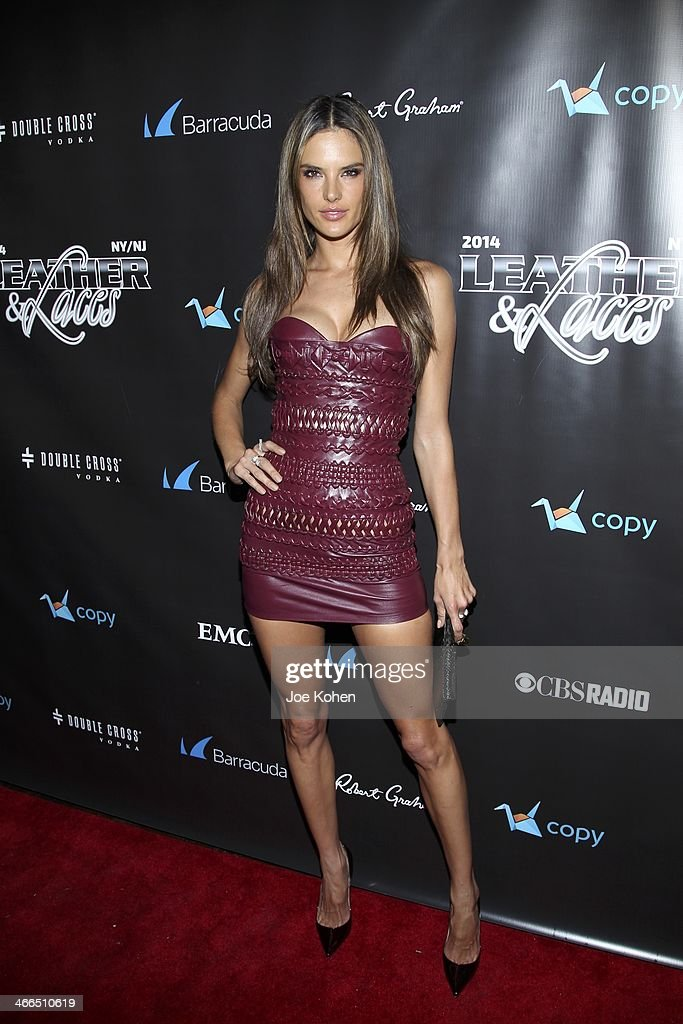 Victoria Secret model Alesandra Ambrosio attends the 11th Annual 'Leather & Laces' Party at The Liberty Theatre on February 1, 2014 in New York City.