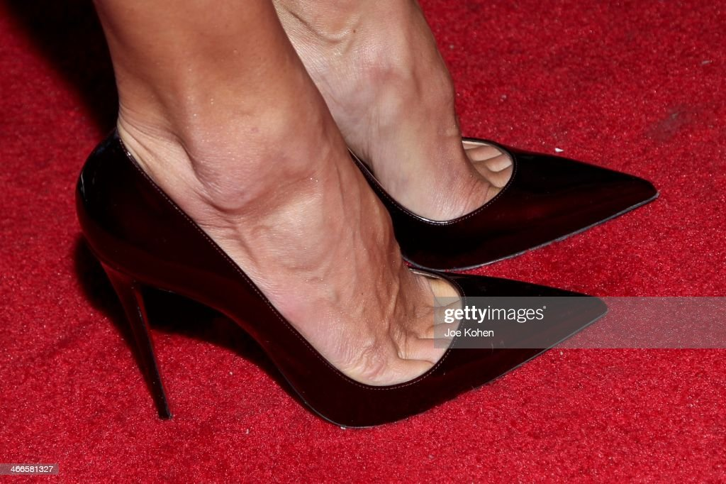 Victoria Secret model Alesandra Ambrosio (shoe detail) attends the 11th Annual 'Leather & Laces' Party at The Liberty Theatre on February 1, 2014 in New York City.