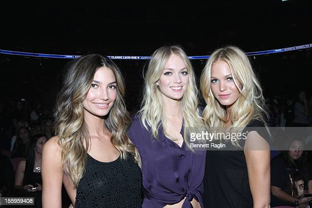 Victoria Secret models Lily Aldridge Lindsay Ellingson Erin Heatherton and attend at the Izod Center on November 9 2012 in East Rutherford New Jersey