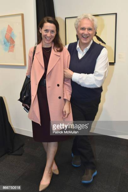Victoria Siddal and Brenard Jordan attend the IFPDA Fine Art Print Fair Opening Preview at The Jacob K Javits Convention Center on October 25 2017 in...