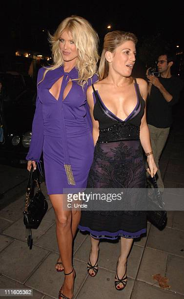 Victoria Silvstedt and Hofit Golan during Victoria Silvstedt Birthday Party September 20 2006 at Cipriani Restaurant in London Great Britain