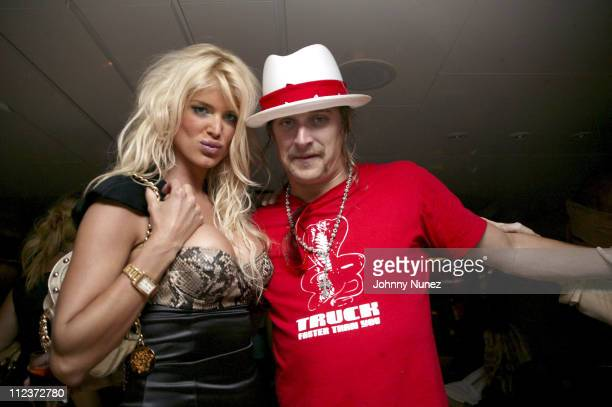 Victoria Silvstedt and Kid Rock during 2005 Cannes Film Festival DG Afterparty at Mediterranean Sea in Cannes Nice France