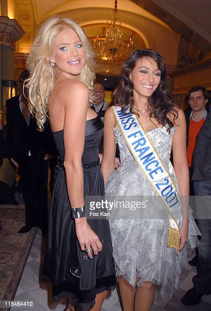 Victoria Silvstedt and Rachel Legrain Trapani Miss France 2007