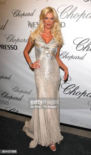 Victoria Silvstedt arrives at the Chopard Trophy Caremony at the Carlton Hotel in Cannes France