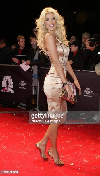 Victoria Silvstedt arrives for Swarovski Fashion Rocks for The Prince's Trust at the Royal Albert Hall in central London