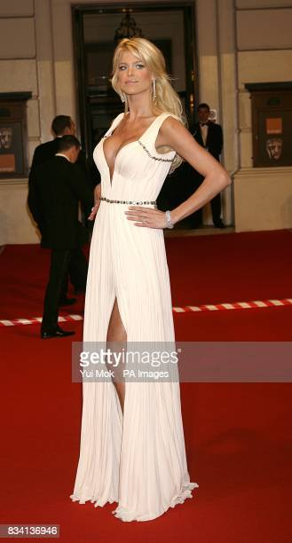 Victoria Silvstedt arrives for the 2008 Orange British Academy Film Awards at the Royal Opera House in Covent Garden central London