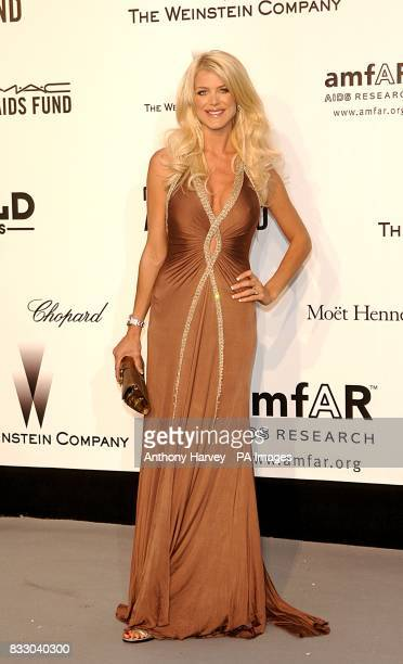 Victoria Silvstedt arrives for the American Foundation for Aids Research party at Le Moulin de Mougins during the 60th annual Cannes Film Festival in...