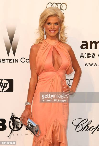 Victoria Silvstedt arrives for the amfAR Gala during the 61st Cannes Film Festival in Cannes France