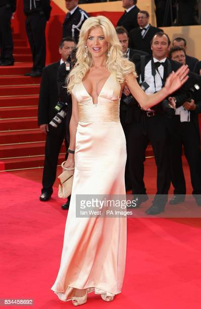 Victoria Silvstedt arrives for the screening of 'Changeling' during the 61st Cannes Film Festival in Cannes France