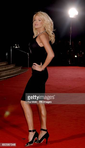 Victoria Silvstedt arrives for the World Music Awards at Earls Court in central London PRESS ASSOCIATION Photo Picture date Wednesday 15 November...