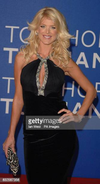 Victoria Silvstedt arrives for the World Music Awards at Earls Court in central London