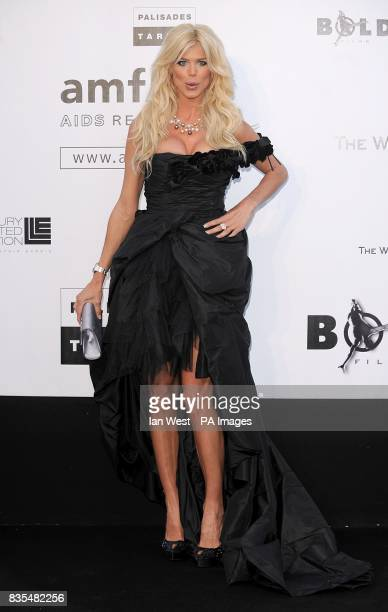 Victoria Silvstedt arriving for the AmfAR 'Cinema Against AIDS' dinner and auction at the Hotel Du Cap Eden Roc Cap d'Antibes Cannes France
