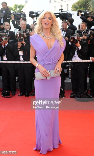 Victoria Silvstedt arriving for the screening of Inglourious Basterds at the Palais de Festival during the 62nd Cannes Film Festival France