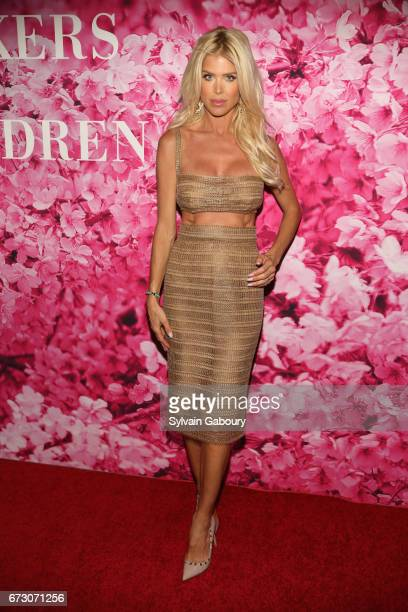 Victoria Silvstedt attends 2017 New Yorkers For Children's A Fool's Fete Enchanted Garden at Mandarin Oriental New York on April 25 2017 in New York...