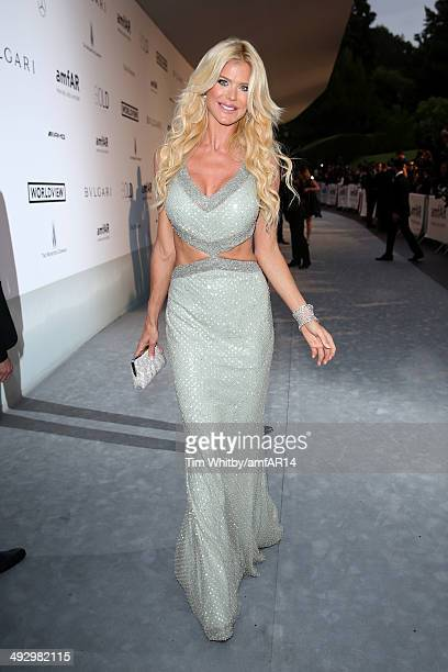 Victoria Silvstedt attends amfAR's 21st Cinema Against AIDS Gala Presented By WORLDVIEW BOLD FILMS And BVLGARI at Hotel du CapEdenRoc on May 22 2014...