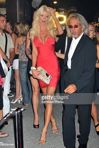 Victoria Silvstedt attends the 4th annual ASMALLWORLD Party at The Lady Joy II Lighthouse Pier on July 24 2008 in SaintTropez France