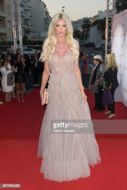 Victoria Silvstedt attends the Positif Planet gala dinner during the 70th annual Cannes Film Festival at Palm Beach on May 24 2017 in Cannes France