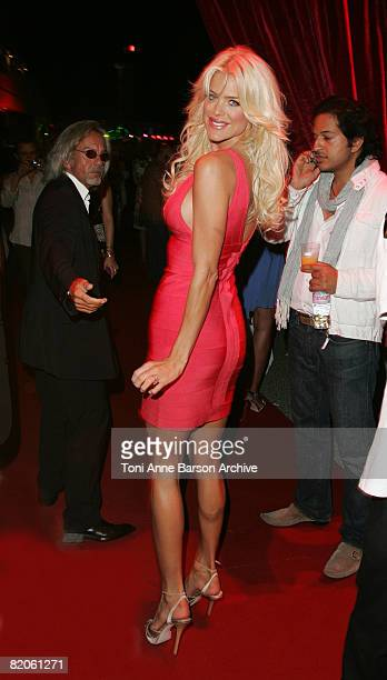 Victoria Silvstedt attends the Soiree Tropezienne hosted by Denise Rich and ASMALLWORLD onboard Ms Rich's yacht the 'Lady Joy' on July 24 2008 in...
