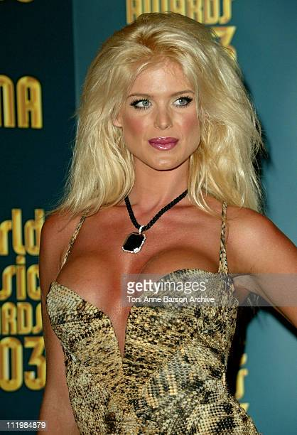 Victoria Silvstedt during 2003 Monte Carlo World Music Awards Press Room at Monte Carlo Sporting Club in Monte Carlo Monaco
