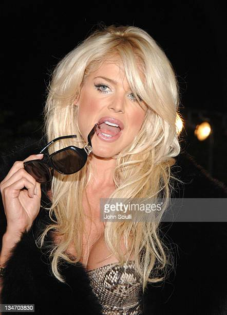 Victoria Silvstedt during 2005 Cannes Film Festival Dolce Gabbana Party at VIP Room in Cannes France