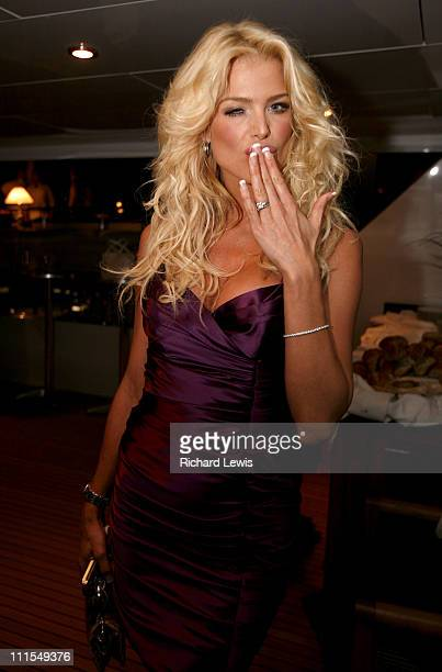 Victoria Silvstedt during 2007 Cannes Film Festival Denise Rich Event for the G P Foundation Sponsored by Audi at Private Yacht in Cannes France