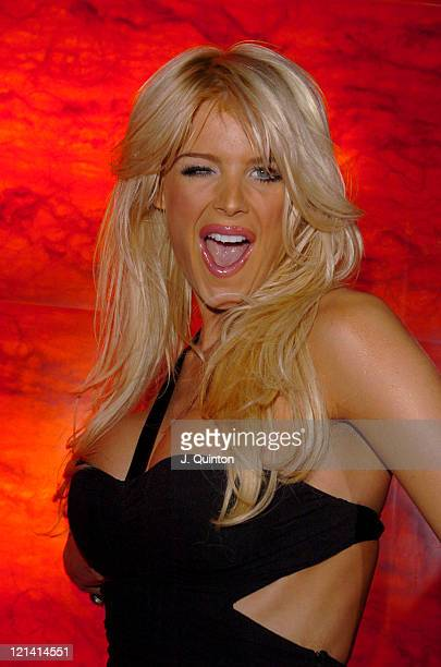 Victoria Silvstedt during Gentlemen Prefer Blondes Party London at Funky Buddha Nightclub in London Great Britain