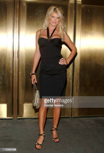 Victoria Silvstedt during Olympus Fashion Week Spring 2006 Baby Phat Arrivals at Radio City Music Hall in New York City New York United States