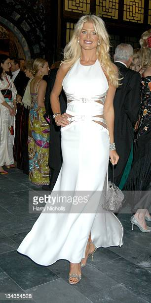 Victoria Silvstedt during The 6th Annual White Tie Tiara Ball to Benefit the Elton John Aids Foundation in association with Chopard Garden at Sir...