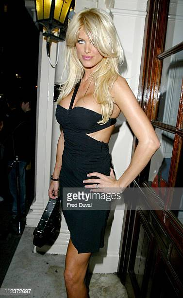 Victoria Silvstedt during Victoria Silvstedt Hosts Gentlemen Prefer Blondes Party at Funky Buddha in London Great Britain