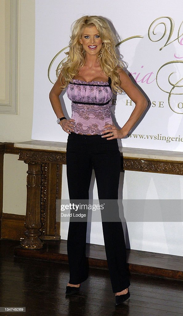 <a gi-track='captionPersonalityLinkClicked' href=/galleries/search?phrase=Victoria+Silvstedt&family=editorial&specificpeople=202866 ng-click='$event.stopPropagation()'>Victoria Silvstedt</a> during <a gi-track='captionPersonalityLinkClicked' href=/galleries/search?phrase=Victoria+Silvstedt&family=editorial&specificpeople=202866 ng-click='$event.stopPropagation()'>Victoria Silvstedt</a> Launches Her First Lingerie Collection 'The House of Lingerie' at 33 Portland Place in London, Great Britain.