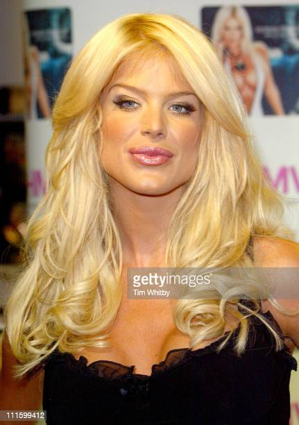 Victoria Silvstedt during Victoria Silvstedt Promotes Her 2005 Calendar at HMV Trocadero in London Great Britain